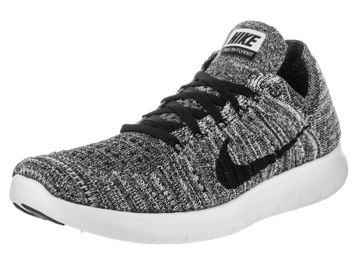 Nike Women's Free Rn Flyknit 2017 Running Shoes B01F9I6KGA 9 B(M) US|White/Black