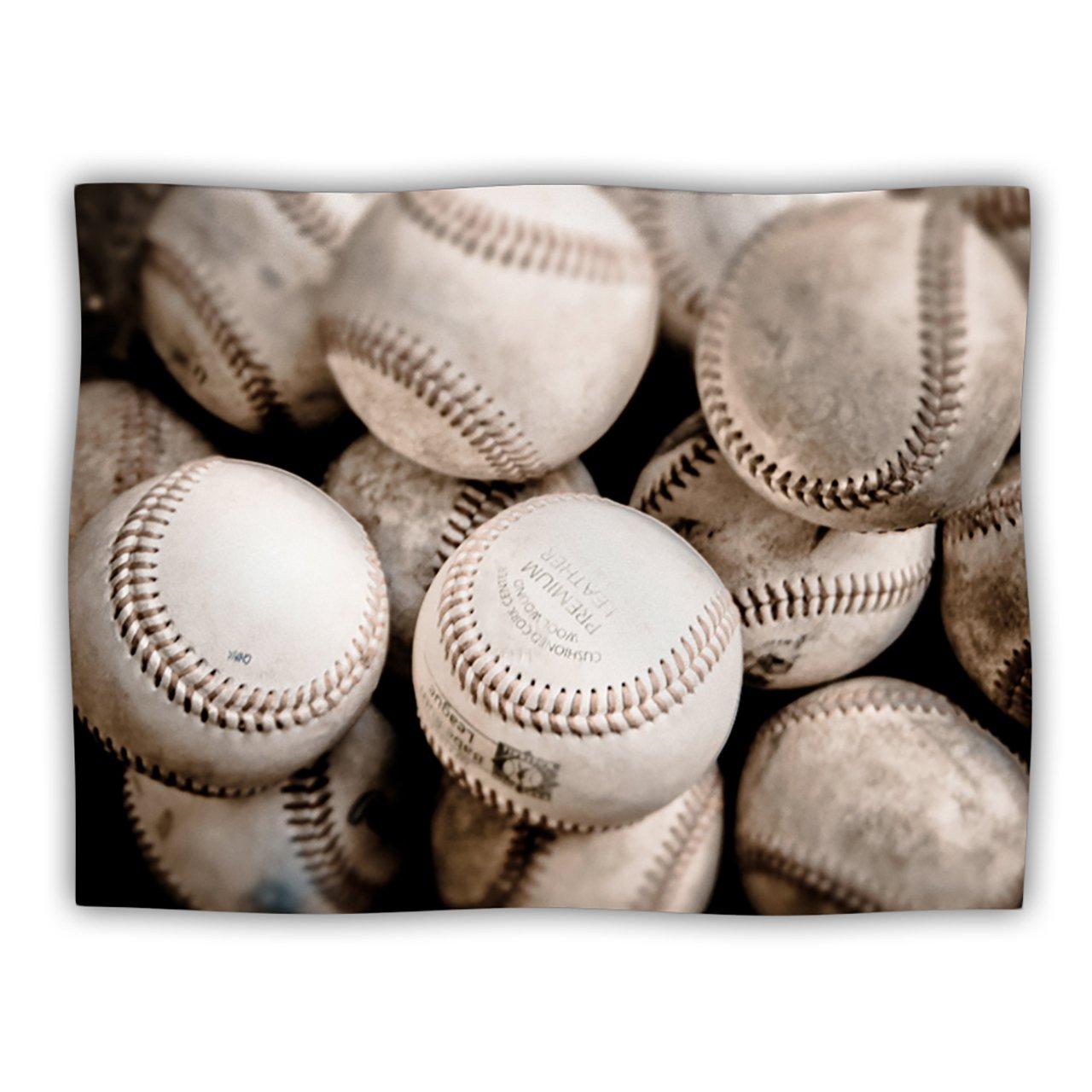 Kess InHouse Debbra Obertanec ''On The Mound'' Baseball Pet Blanket, 40 by 30-Inch
