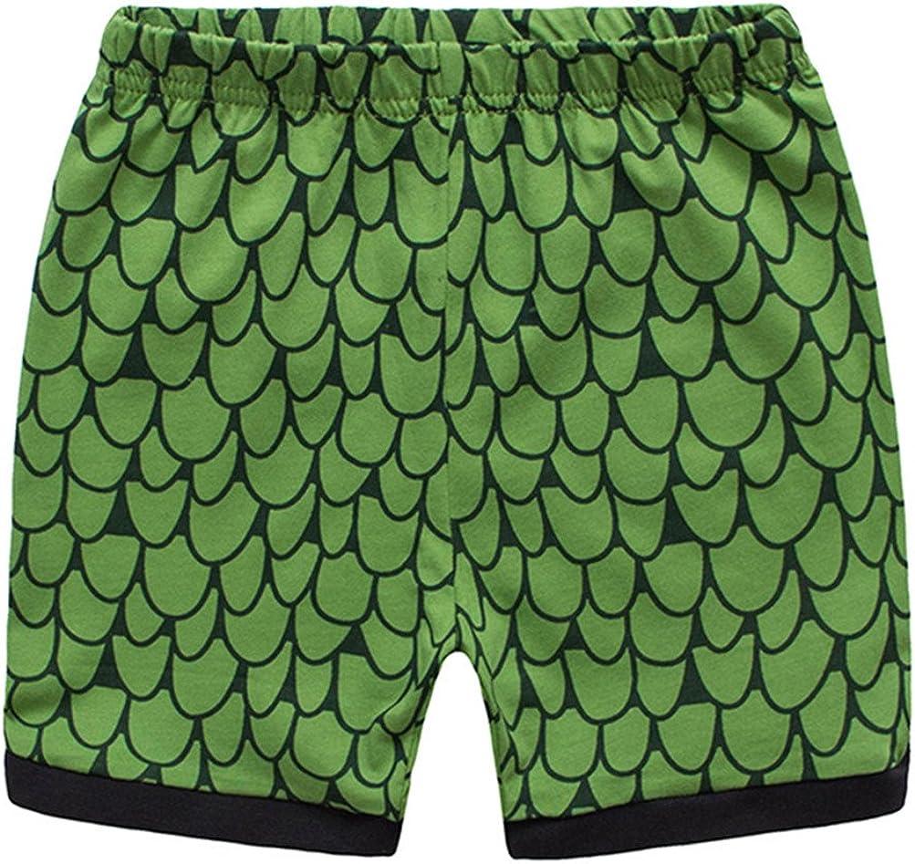 Yzjcafriz Boys Pajamas Sets Cotton Dinosaur Pjs Kids Clothes Short Sets Size 2Y-7Y