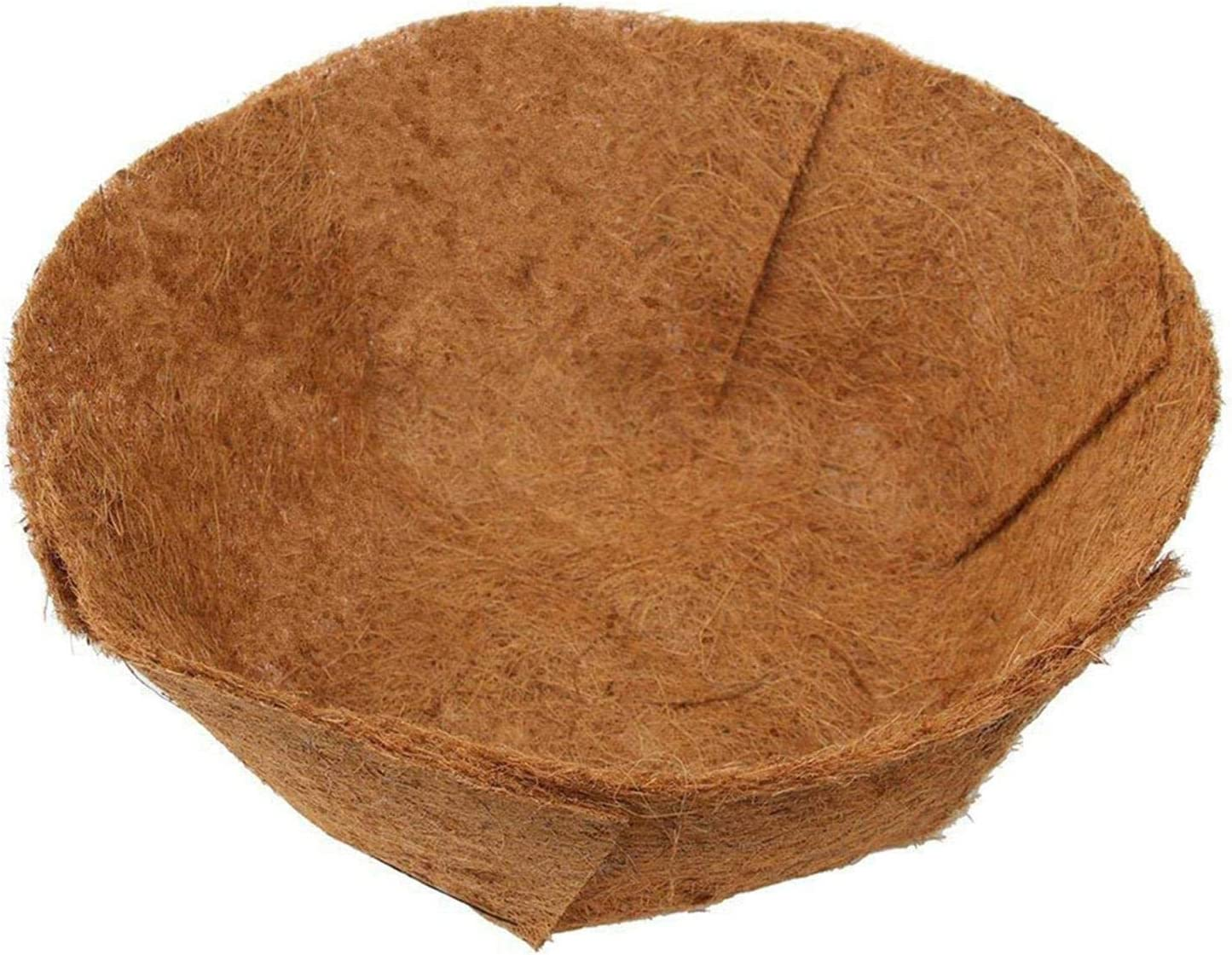 EROCK 2PCS Round Replacement Coco Liner for Hanging Basket, 24 Inch Coconut Fiber Plant Basket Liner for Garden Planter Flower Pot (Round)