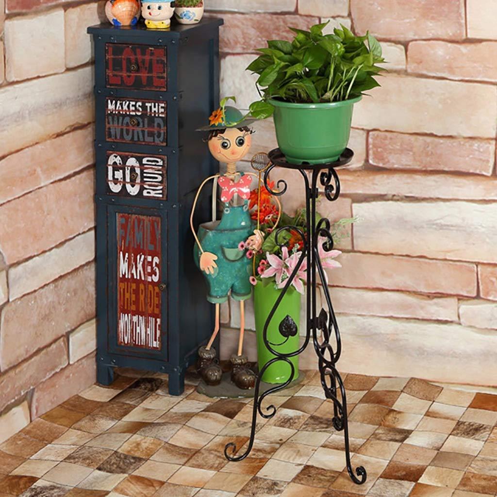 Rack Soporte para Flores Arte del Hierro Aterrizaje Estante para ollas Salón para Flores Verde Balcón Planta Verde Tres Colores (Color : C): Amazon.es: ...