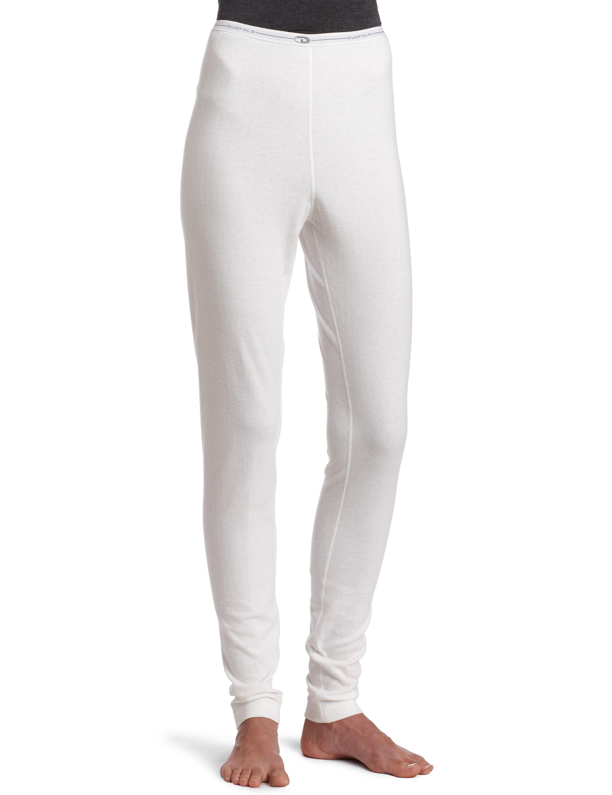 Duofold Women's Mid-Weight Bottom, Winter White, Medium
