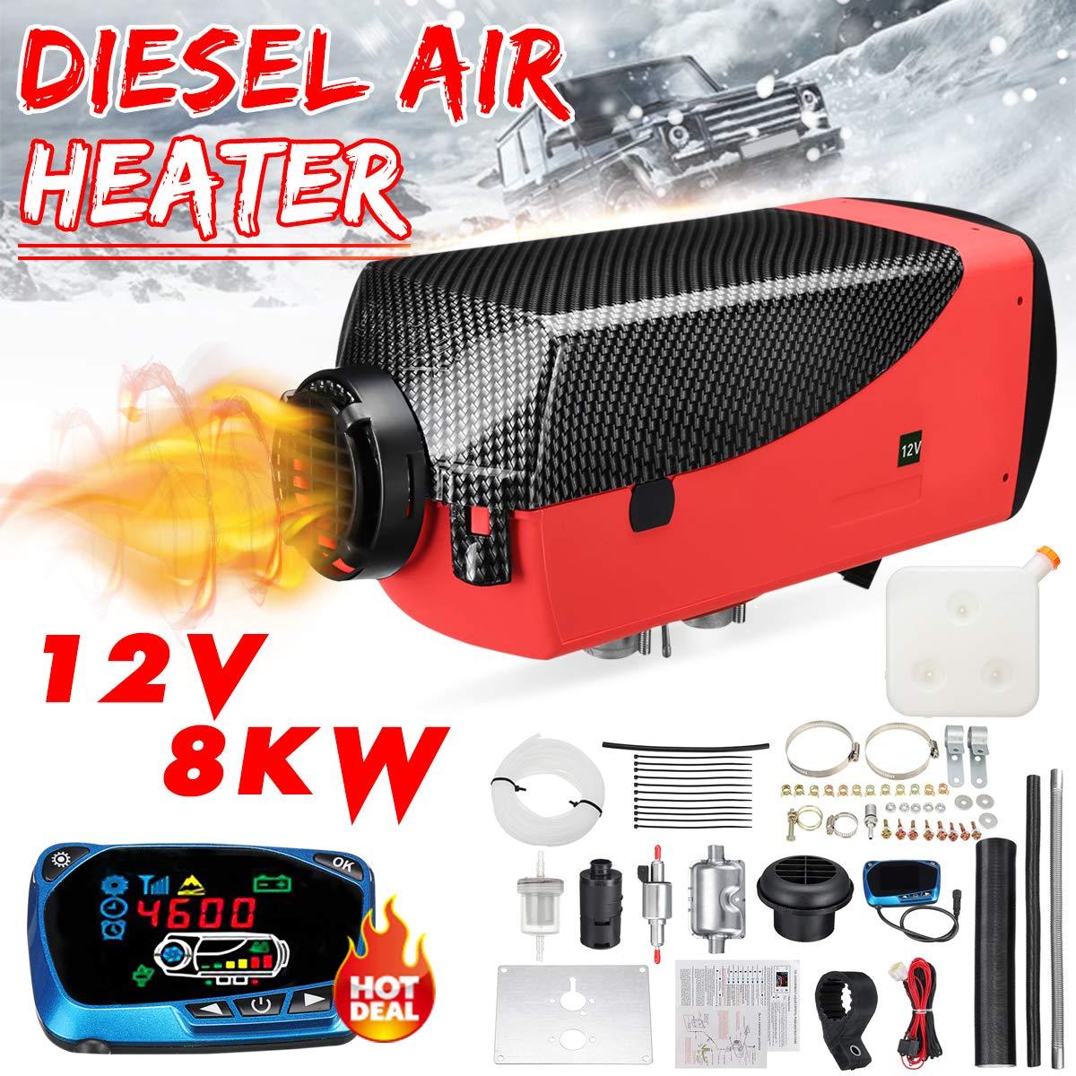 KingSo 12V 8KW Diesel Air Heater Kit for Trucks Boats Bus Car Motor-Homes