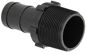 """Banjo HB150-125 Polypropylene Hose Fitting, Adapter, 1-1/2"""" NPT Male x 1-1/4"""" Barbed"""