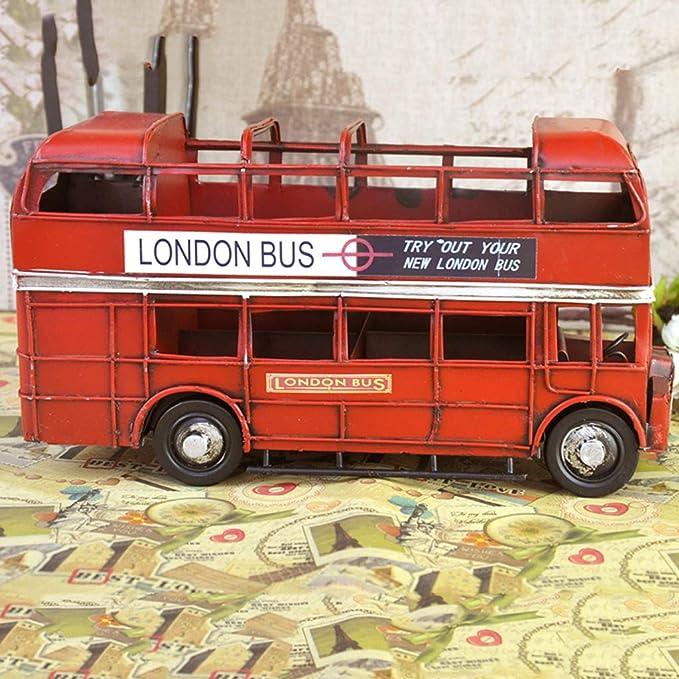 Modelo de autobús de Dos Pisos de Hierro, Muebles Antiguos ...