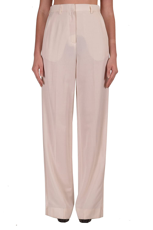 Maison Martin Margiela Women's White Wool Casual Pants US 6 IT 42