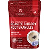 Chicory Root Roasted Granules, 1 Pound, Chicory Coffee (Inulin, Prebiotic Dietary Fiber) Rich Flavor, Caffeine Free, Natural