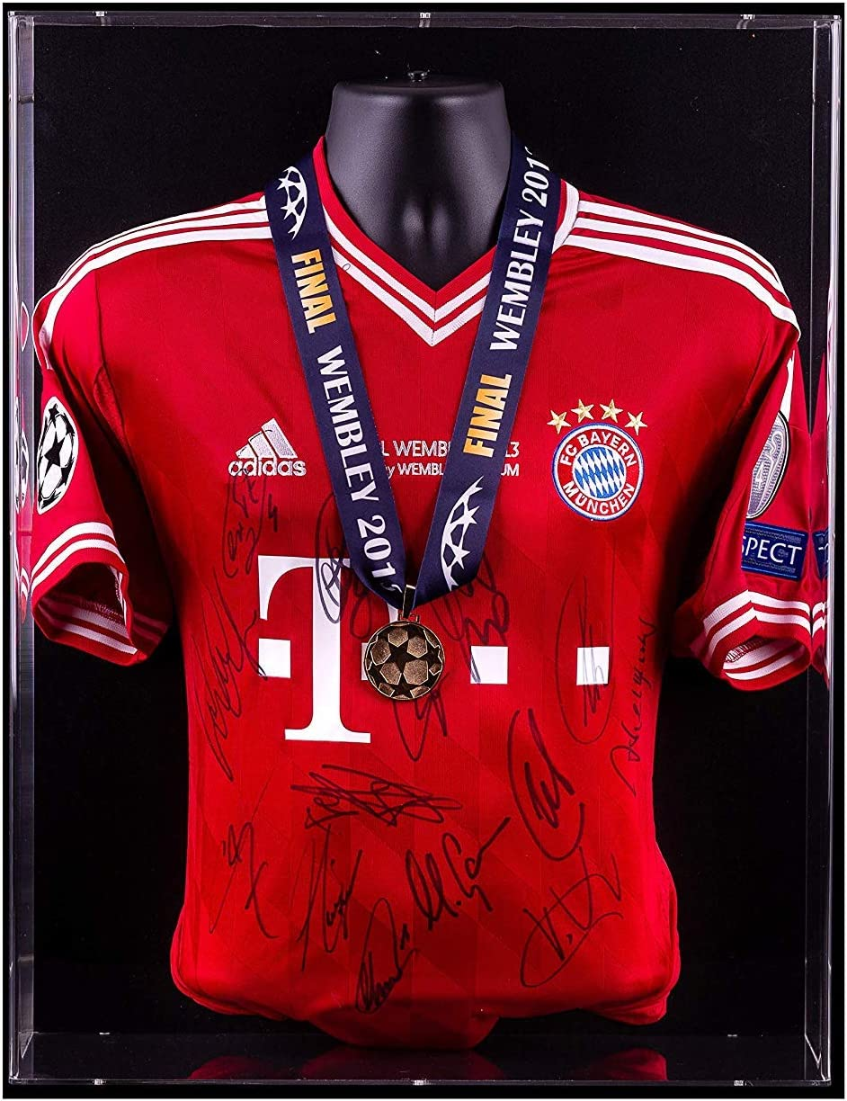 Bayern Munich Team Signed Champions League Final Shirt Medal Display Wembley 2013 Display Cases Amazon Canada
