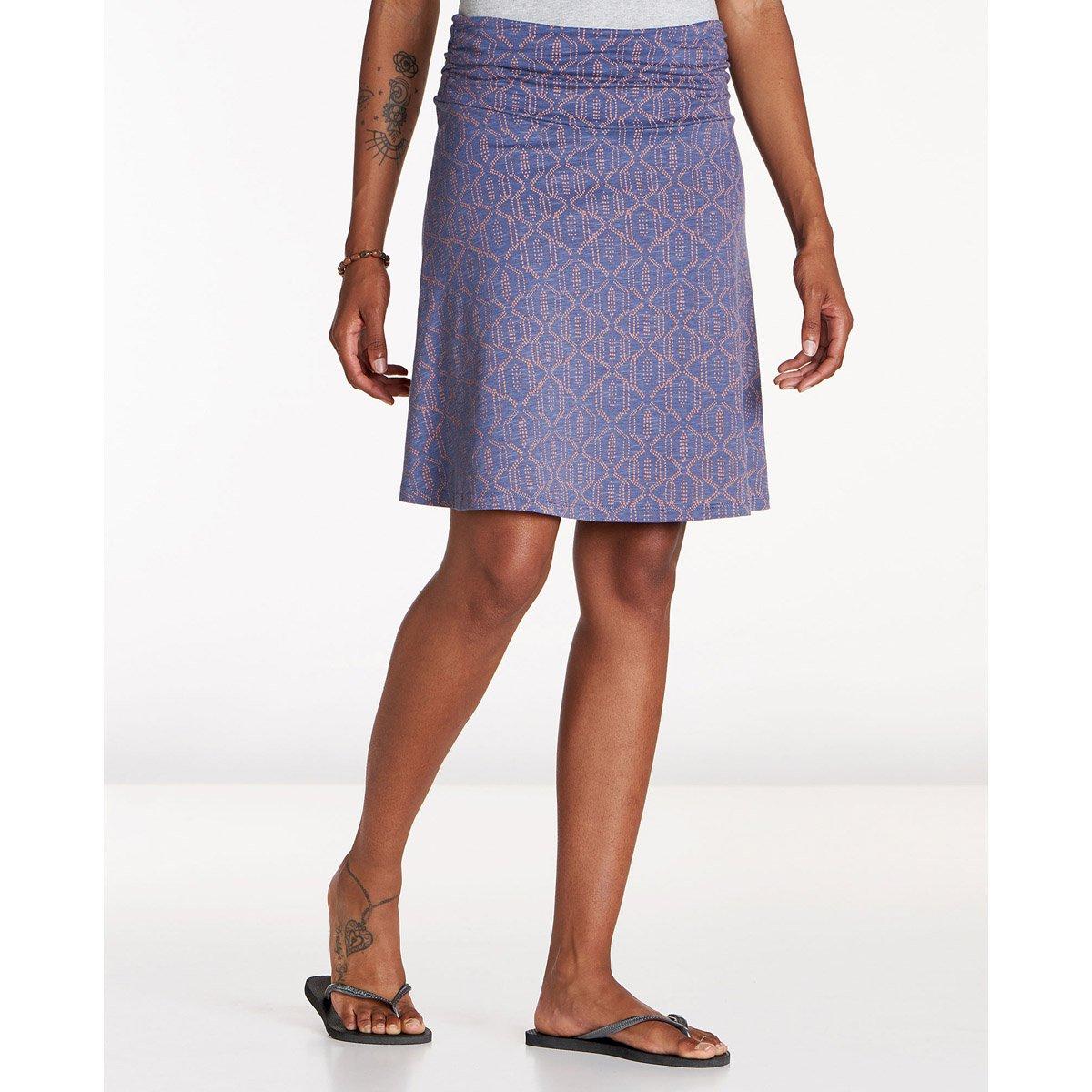 Toad&Co Chaka Skirt - Women's, Blueberry Batik Dot Print, M