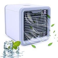 Climatiseurs Portable, Alfreco Mini climatiseur Portable Refroidisseur d'air Refroidisseur d'air USB avec humidificateur et purificateur d'air Refroidisseur d'air LoiStu avec refroidissement par eau pour bureau, hôtel, garage, 3 niveaux de refroidissement