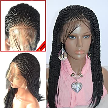 YongerBeauty Micro Braided Lace Front Wigs Twisted Braiding Wig Realistic  Scalp Design Braids