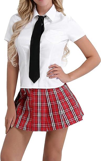 EXTRA LARGE Black SCHOOL GIRL OUTFIT Women Ladies Adult Fancy Dress Costume UK