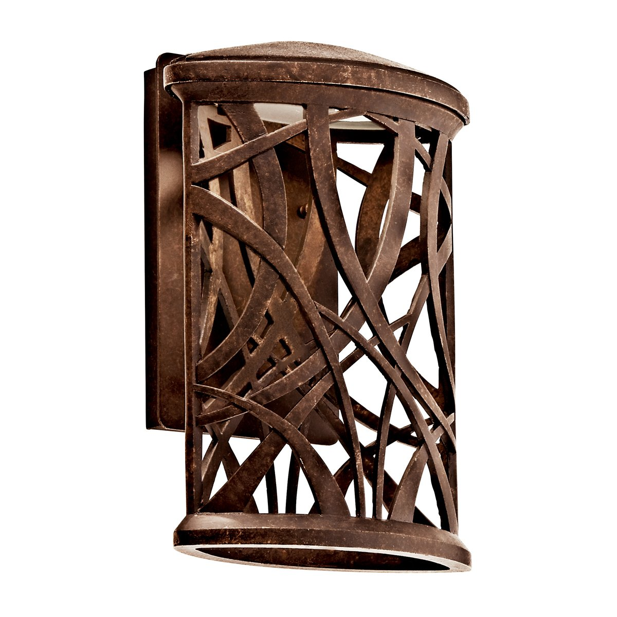 Outdoor led wall lantern olde bronze wall porch lights amazon com - Kichler 49248agzled Maya Palm Outdoor Wall Led Light Aged Bronze Wall Porch Lights Amazon Com