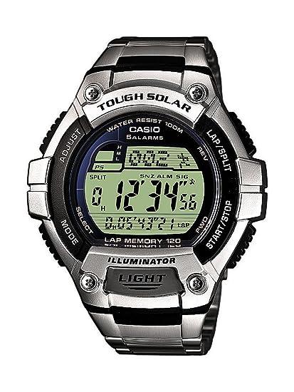 Casio CASIO Collection Men - Reloj digital de caballero de cuarzo con correa de acero inoxidable plateada (alarma, cronómetro, luz) - sumergible a 100 ...