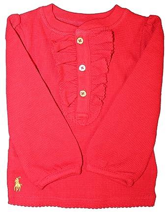 Polo Ralph Lauren - Polo - para niña Rojo rosso: Amazon.es: Ropa y ...