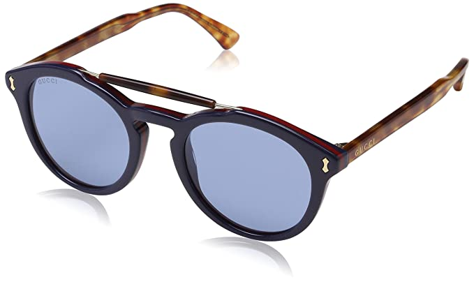 sito affidabile 9fad7 a0a84 Gucci GG0124S 003 Occhiali da Sole, Blu Bluee, 50 Uomo