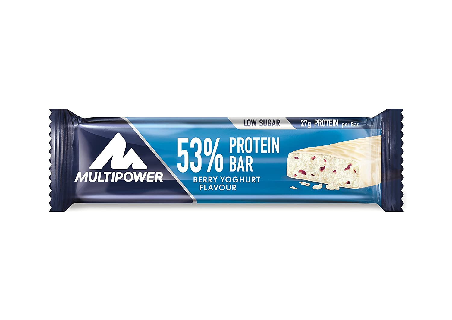 Multipower 53% Protein Bar – 24 x 50 g Eiweißriegel Box – Berry ...