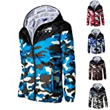 Camouflage Printed Jacket Mens Casual Long Sleeve