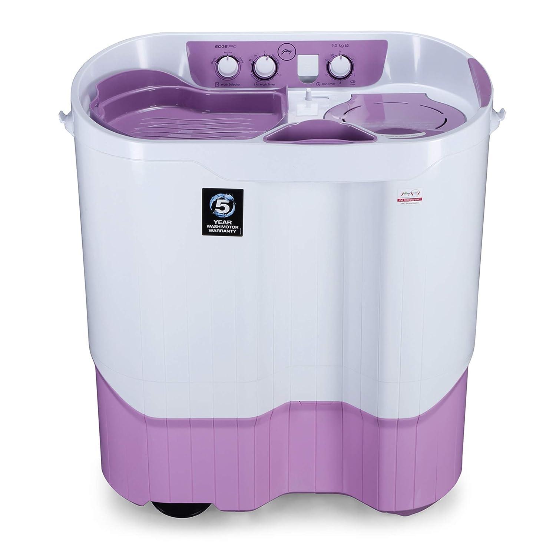 Godrej 9 Kg Semi-Automatic Top Loading Washing Machine (WS EDGEPRO 900 ES LISP, Lilac Sprinkle, Aquajet Pulsator)