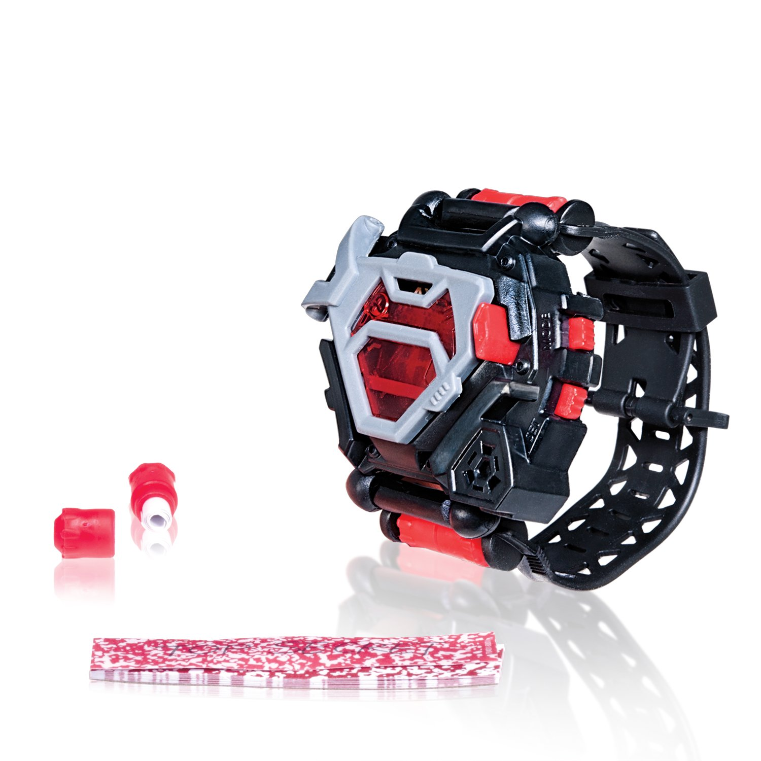 image of a spy watch toy for boys in black and red color