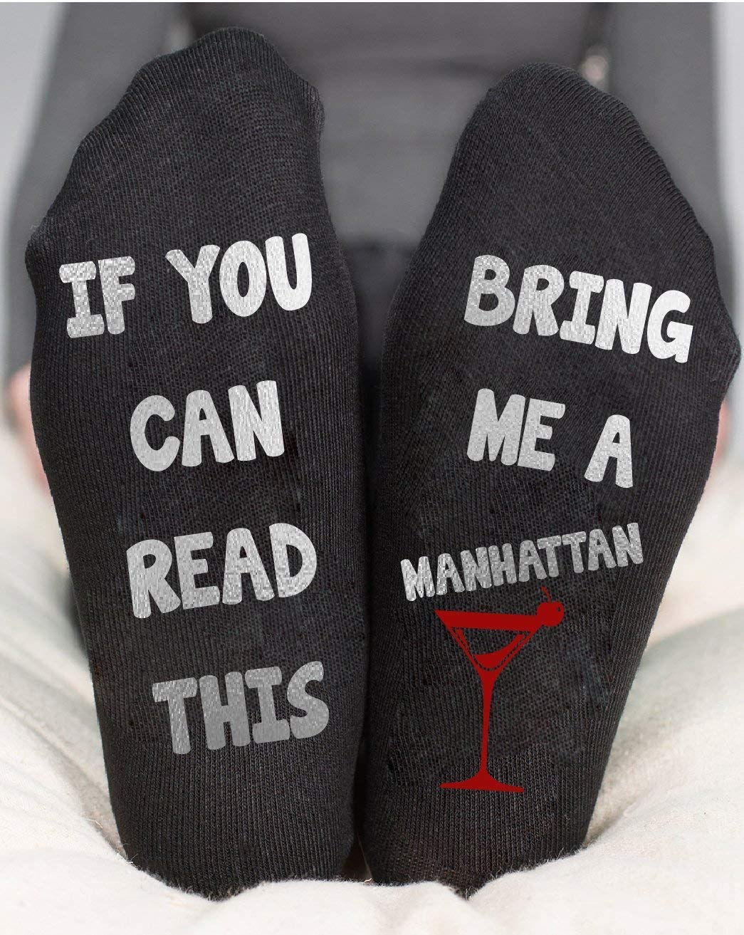 Manhattan Socks If You Can Read This Funny Birthday Gift