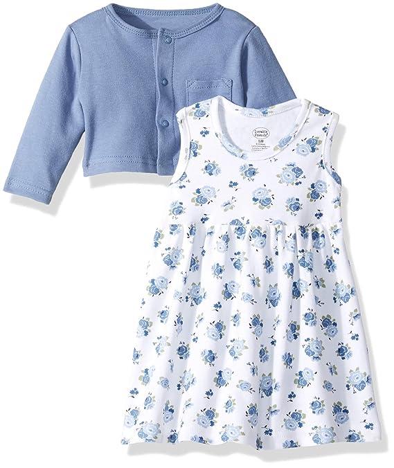 7d9aea65ebf Amazon.com  Luvable Friends Baby Girls  Dress and Cardigan Set  Clothing