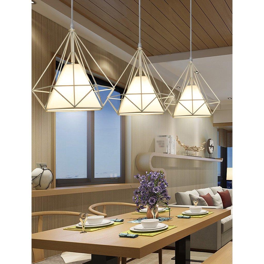 GYP Kronleuchter einfache moderne Wohnzimmer Retro Bar Cafe Cafe Cafe Restaurant drei Köpfe Eisen Kronleuchter ( Farbe   G ) 1c67a5