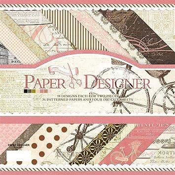 Amazon.com: S&B - Álbum de recortes de papel con diseño ...