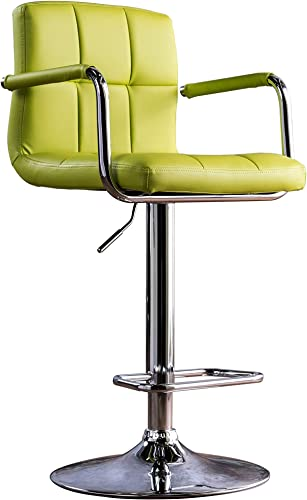 Furniture of America Modern Chelsea Leatherette Swivel Bar Stool