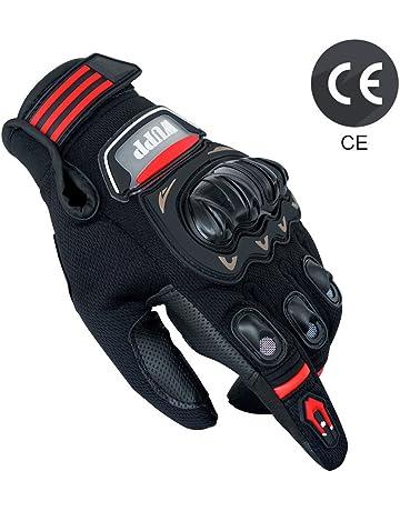 Gants Moto Eté Homologué CE, Gants Homme Femme Plein-Doigt Respirable avec  Ecran Tactile d036e76adf