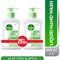 Dettol Soothe Anti-Bacterial Liquid Hand Wash 200ml Twin Pack At 25% Off