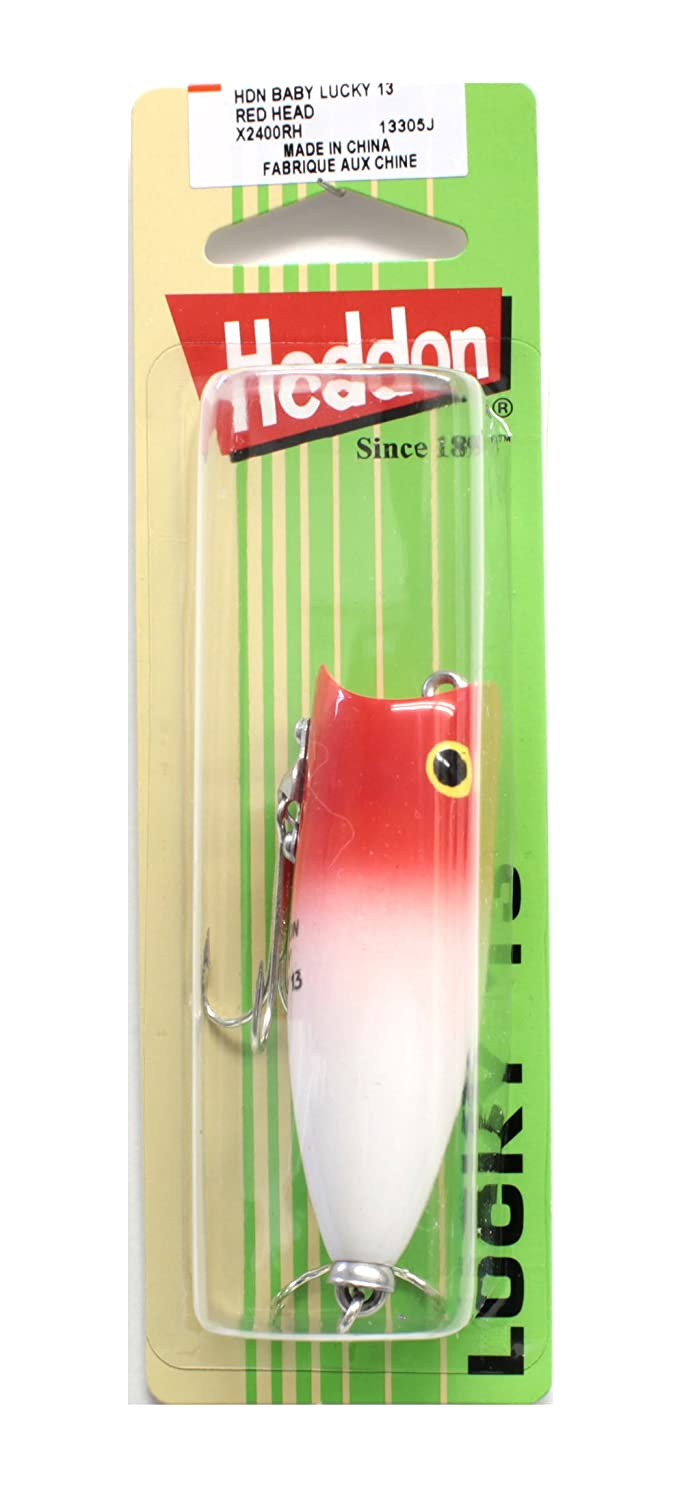 Heddon Lures X2400RH Baby Lucky 13 Fishing Lures, Red Head, 2 5/8 2 5/8