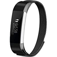 iGK Milanese Replacement Compatible for Fitbit Alta Band and Fitbit Alta HR Bands, Stainless Steel Metal Bracelet Strap with Unique Magnet Clasp for Women Men