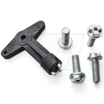 1 x llave para Tapacubos con 4 Tornillos de seguridad (27,8 mm) | 7700422600: Amazon.es: Coche y moto