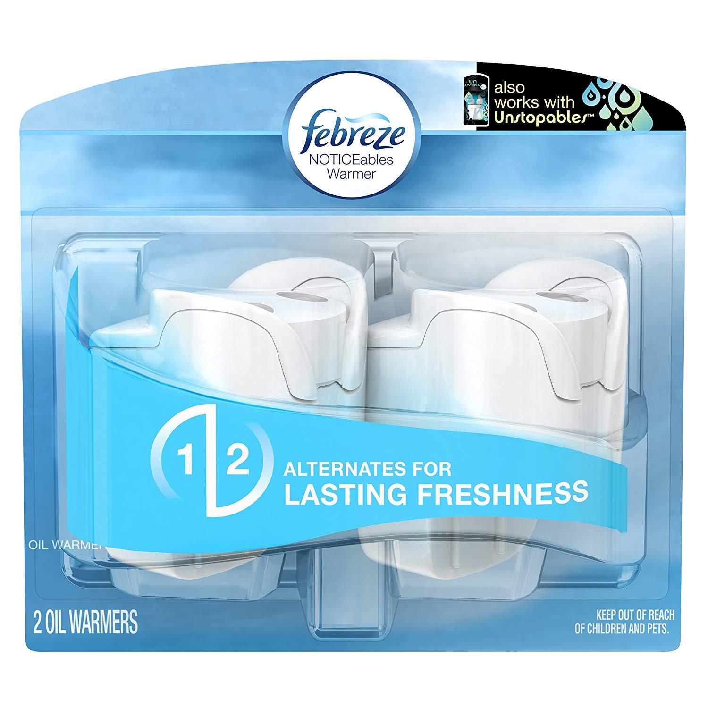 Febreze Air Freshener, Noticeables Air Freshener, Dual Scented Oil Warmer, 1 Pack of 2 Procter & Gamble