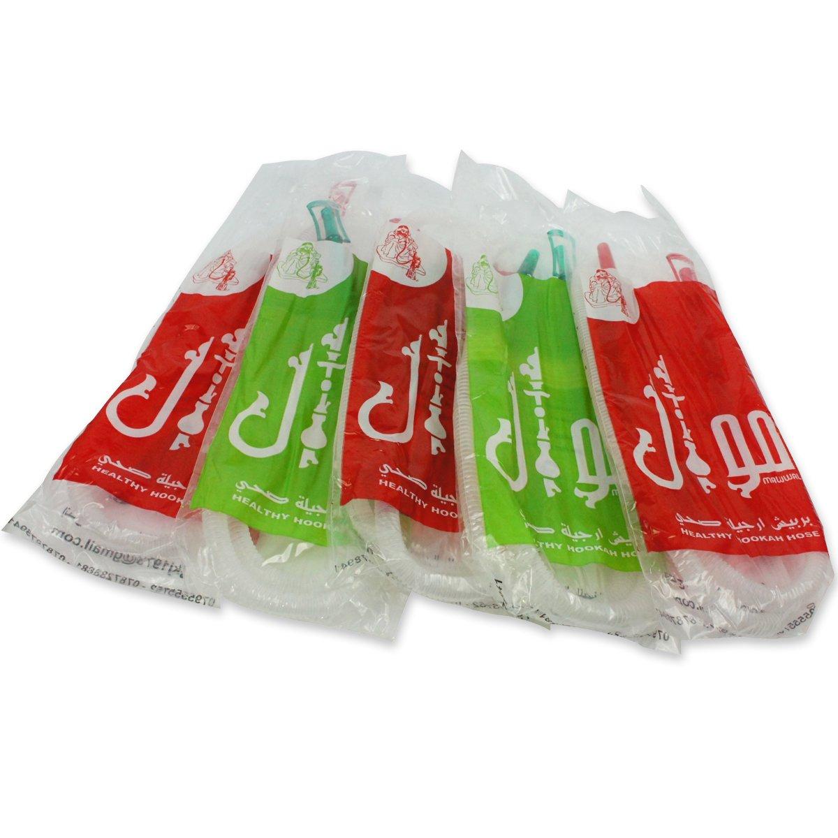 5 Lot Healthy Hose Disposable Hookah Shisha Hose Nargile Sterile Huka Pipe 60''