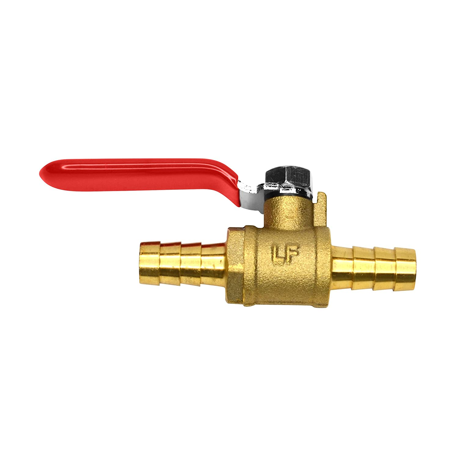 Pack of4 Lead Free OCSParts MTLB-6 3//8-4 Brass Barb x Barb Ball Valve