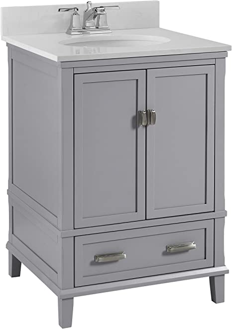 Dorel Living Otum 24 Bathroom Vanity Gray Furniture Decor