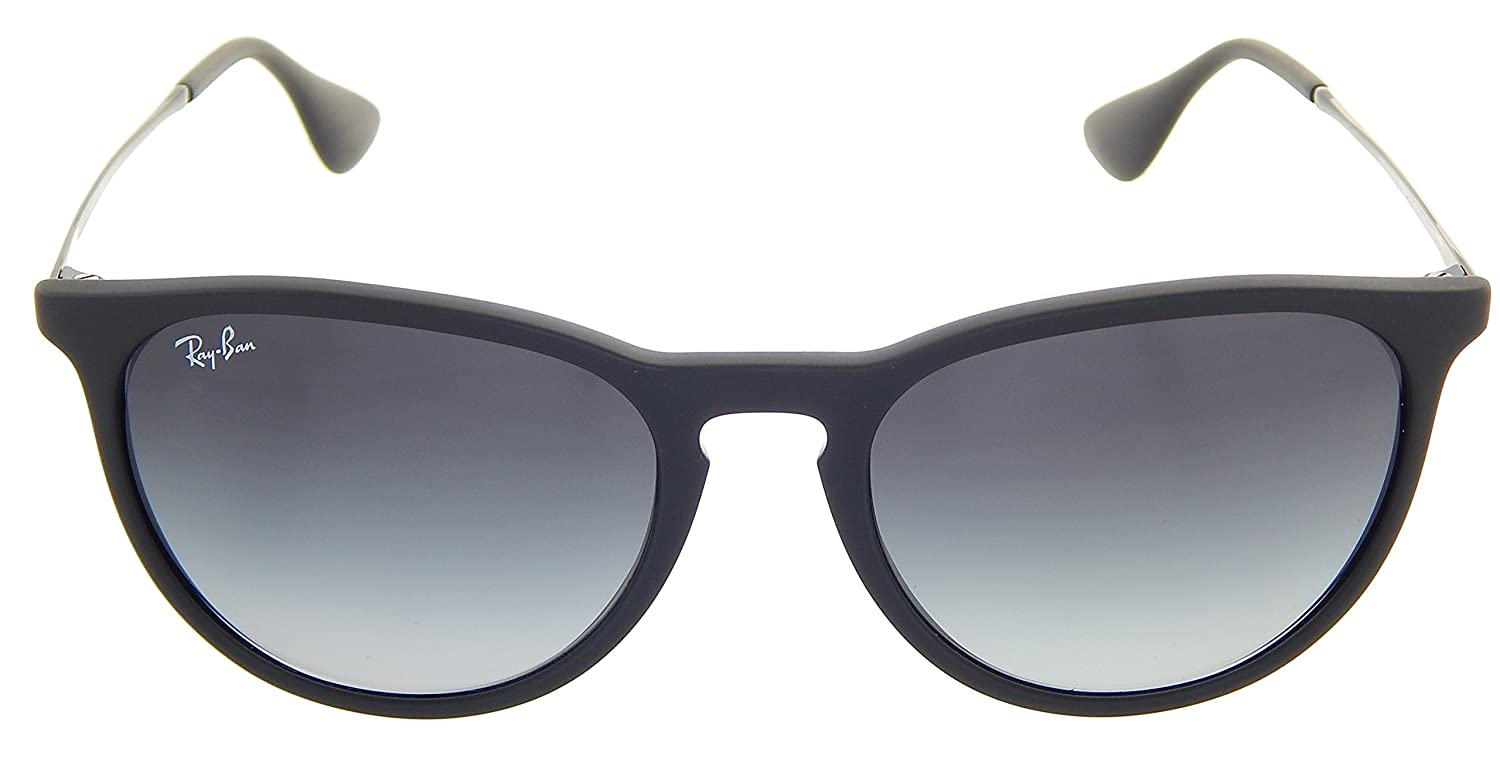 0f886944e9d785 Amazon.com  Ray-Ban RB4171 ERIKA 54mm Rubber Black Grey Gradient  Sunglasses  Clothing