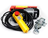 toolsisland 家庭用100V 電動ウインチ(ホイスト) 200kg (リモコンコード長さ:5m) TKK016