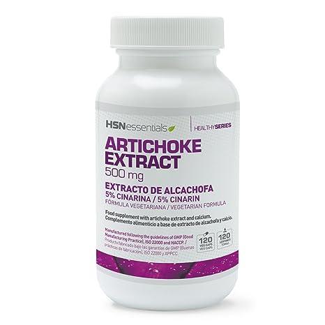 HSN Essentials - Extracto de Alcachofa 500 mg - Con Cinarina - Acción Depurativa, Desintoxicante