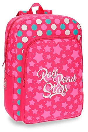 Roll Road Stars Mochila Escolar, 40 cm, 19.2 litros, Rosa: Amazon.es: Equipaje