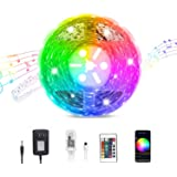 Smart WiFi LED Strip Lights Compatible with Alexa, Google Home Brighter 5050 LED, 16 Million Colors Phone App Controlled…