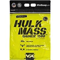 VitaXtrong Proteina Hulk Mass Mass Gainer 1500 -Xtrong Mezcla de Proteinas | 5.44 Kg Sabor a Chocolate | Suplemento gym