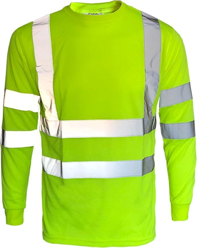INDX-Clothing - Camiseta de alta visibilidad con cuello en V, dos tonos, peso ligero, para verano: Amazon.es: Ropa y accesorios