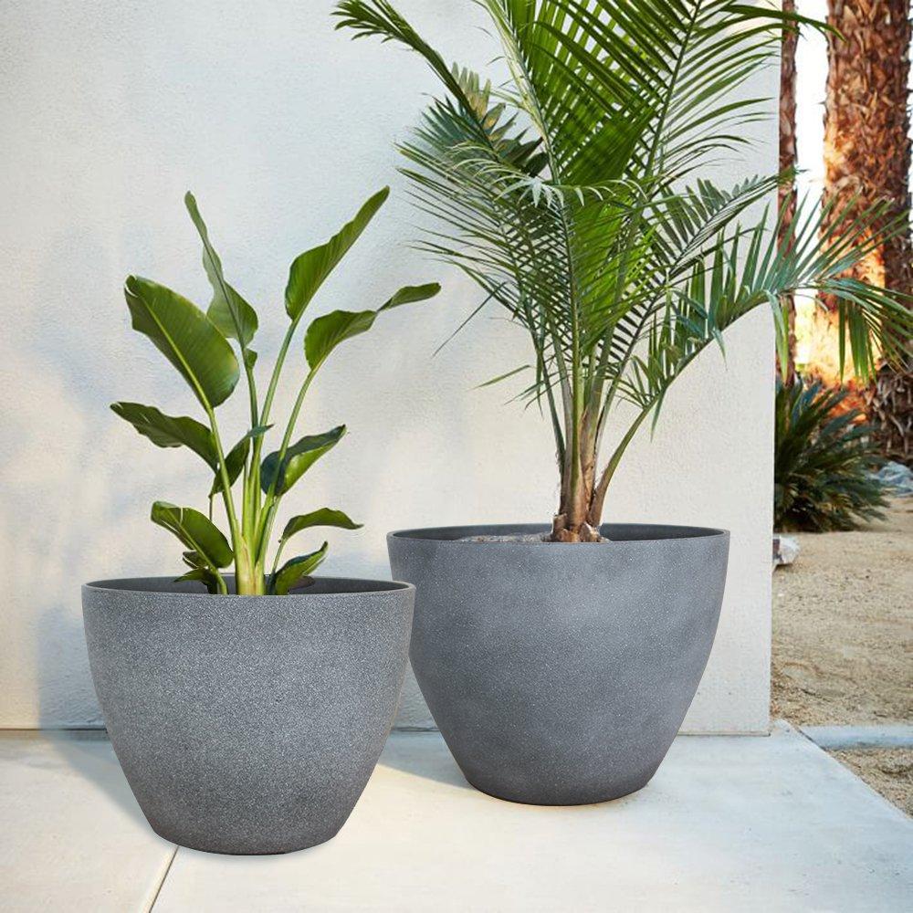 Garden Planters Grey on grey pendant lights, grey lanterns, grey kitchen decor, grey cushions, grey walls, grey trellis, grey christmas decorations, grey marble flooring,