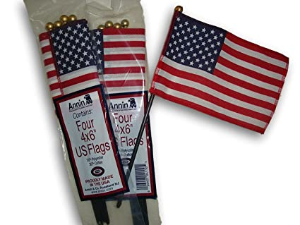 cbb6a4aa1c95 Image Unavailable. Image not available for. Color  Mini USA American Flag 4  Inches x 6 Inches - Pack ...