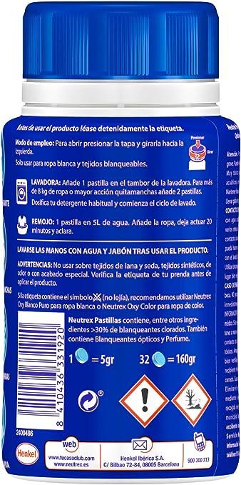 Neutrex Pastillas Efecto Lejía 32 Lavados: Amazon.es: Salud y ...