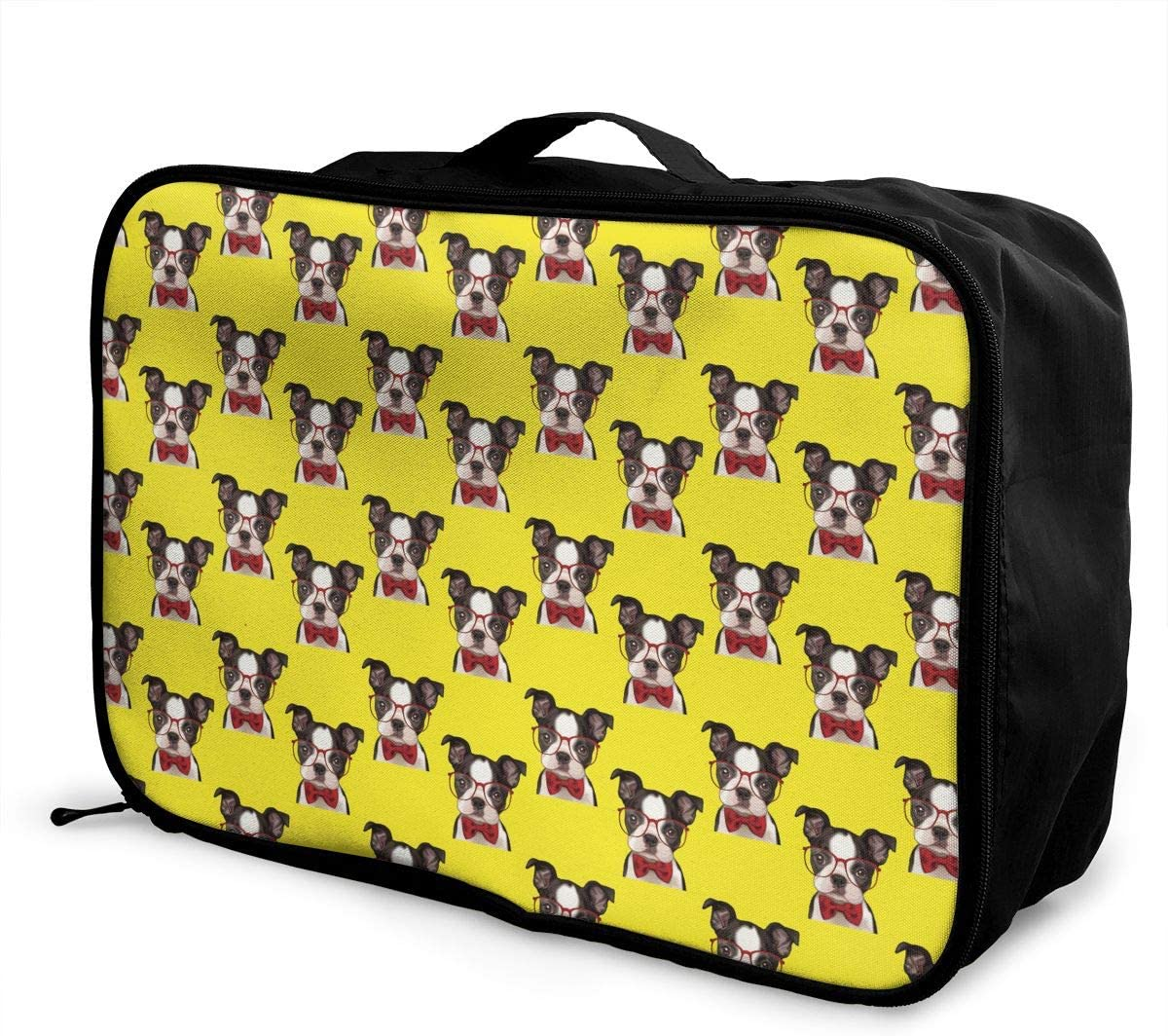 YueLJB French Bulldogs Lightweight Large Capacity Portable Luggage Bag Travel Duffel Bag Storage Carry Luggage Duffle Tote Bag
