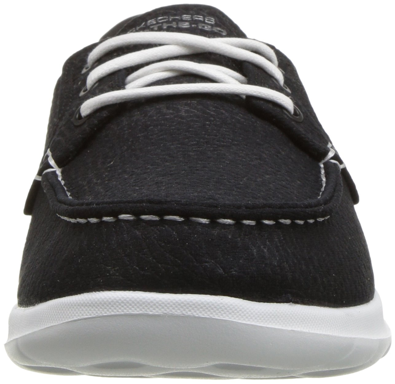 Skechers Women's Go Walk Lite-Eclipse Boat Shoe B075Y2ZDPY 8 M US|Black/White